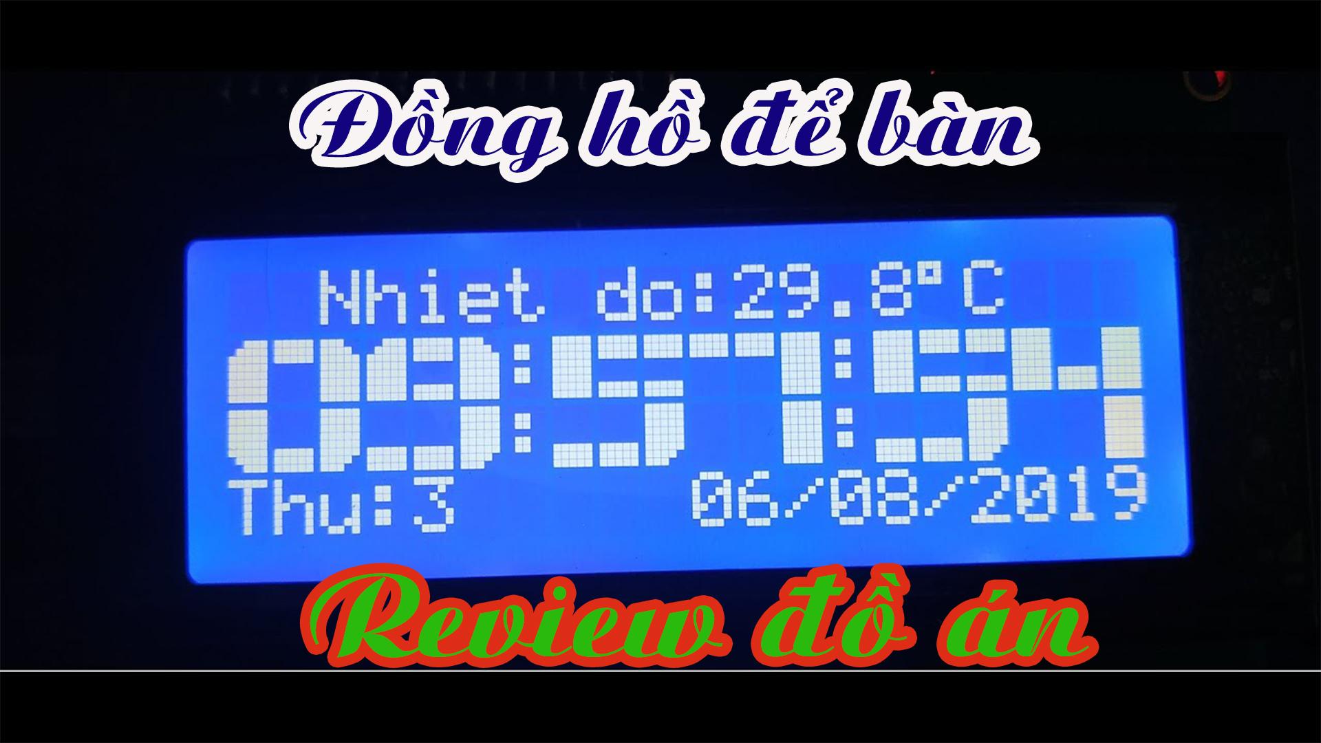 đồng hồ để bàn ds1307 pic16f877a